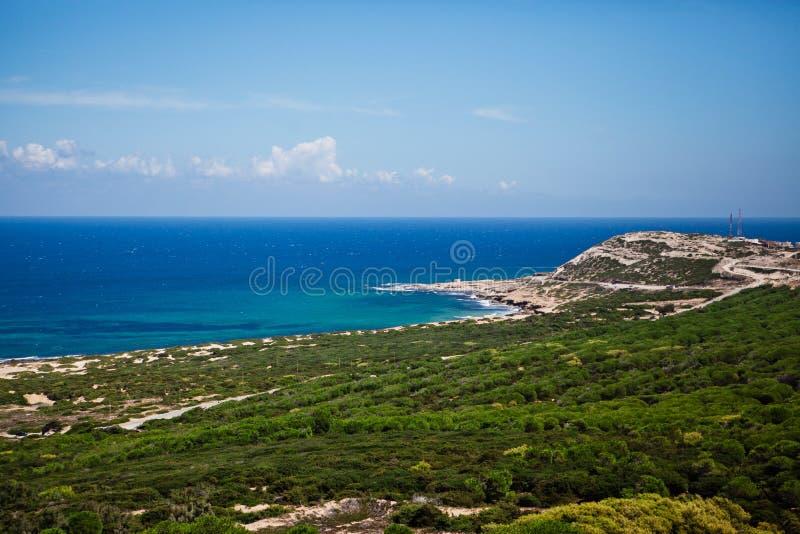 Bord de la mer à Tunis image libre de droits