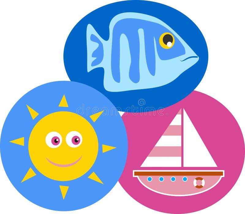 Bord de la mer illustration de vecteur