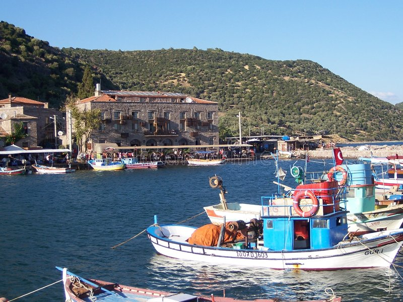 Bord de la mer d'Assos photographie stock