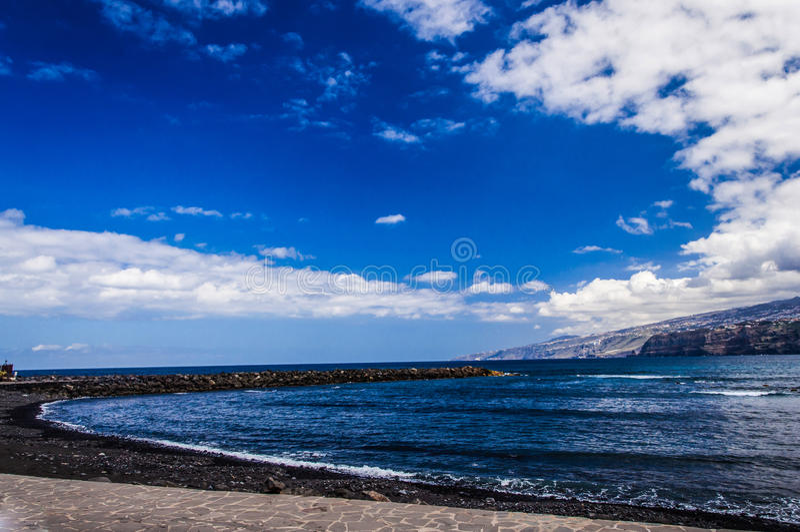 Bord de la mer dans Ténérife, Teide Espagne photographie stock