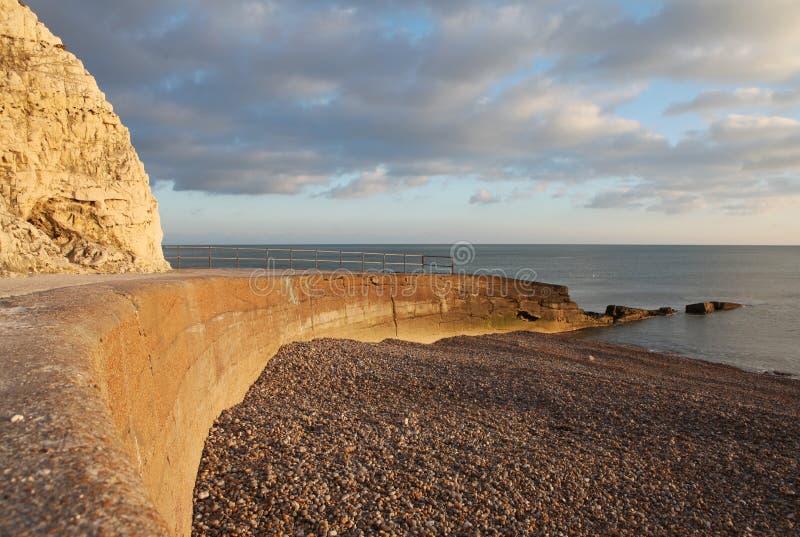 Bord de la mer de côte de falaise de craie sept soeurs Angleterre photo libre de droits