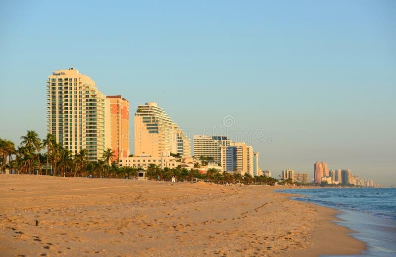 Bord de la mer de Fort Lauderdale, la Floride images libres de droits