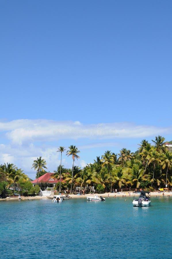 Bord de la mer de Les Saintes en Guadeloupe photo libre de droits