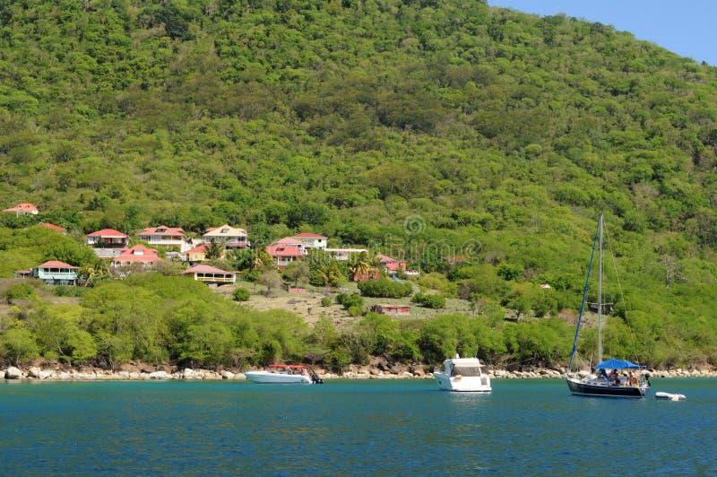 Bord de la mer de Les Saintes en Guadeloupe photos libres de droits