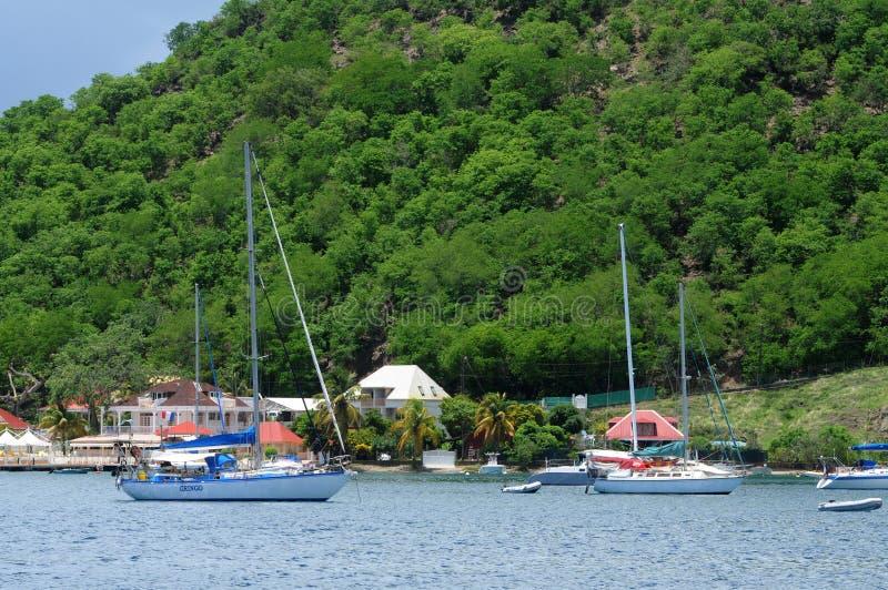 Bord de la mer de Les Saintes en Guadeloupe image libre de droits