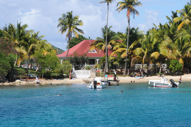 Bord de la mer de Les Saintes en Guadeloupe photo stock