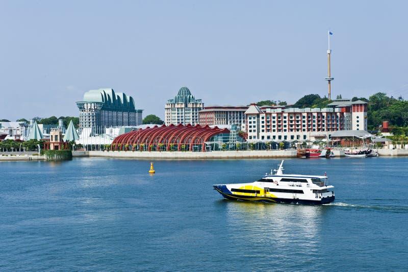 Bord de la mer de Singapour résidentiel images stock