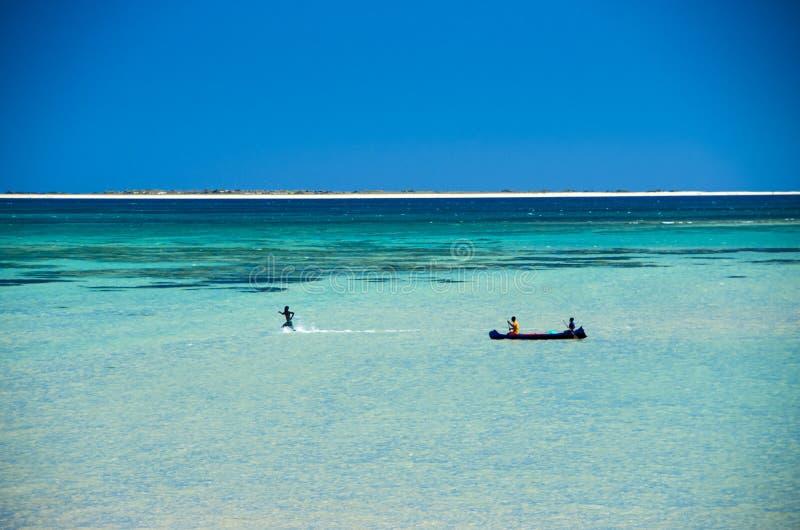 Bord de la mer du Madagascar, Anakao photographie stock libre de droits