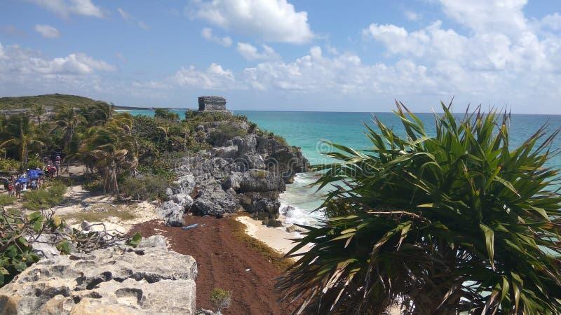 Bord de la mer maya photographie stock libre de droits