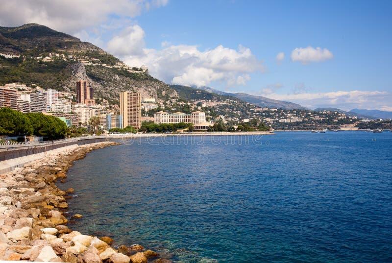 bord de la mer, Monaco photo libre de droits