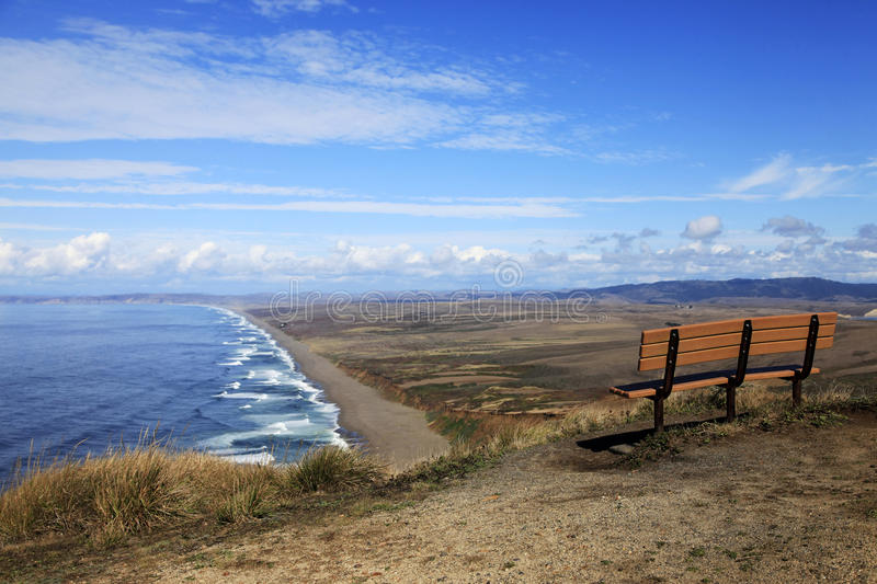 Bord de la mer national de Reyes de point en Californie photos stock