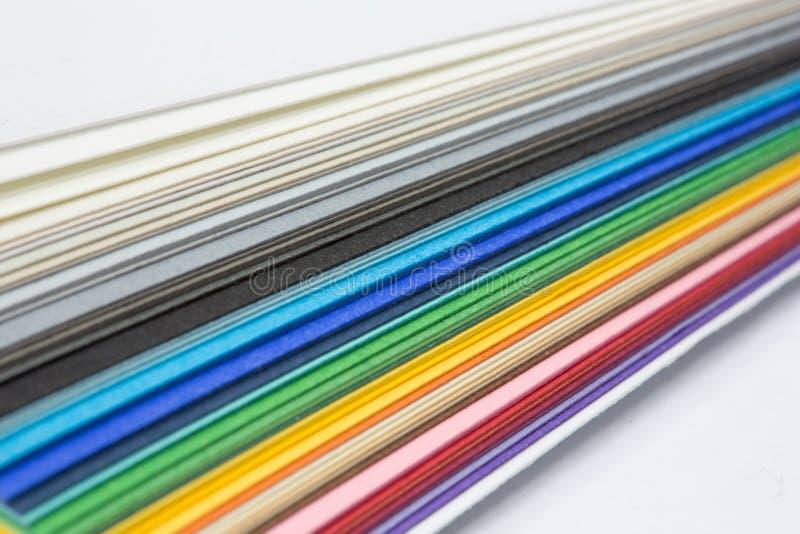 Bord de la pile de papier photographie stock libre de droits