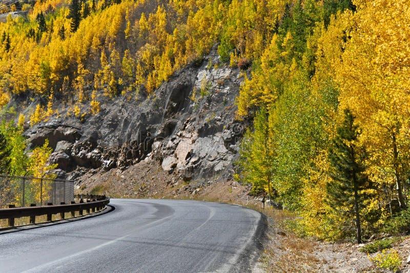 Bord de la route Aspen photo libre de droits