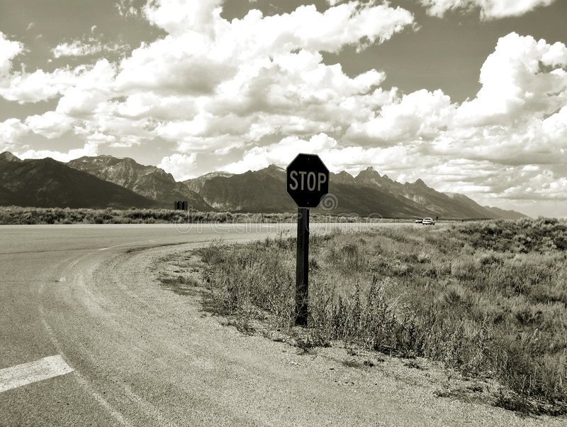 Bord de la route Tetons photo libre de droits