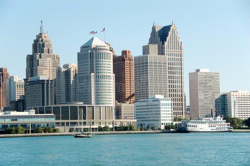 Bord de mer américain d'horizon de ville pendant la journée photographie stock libre de droits