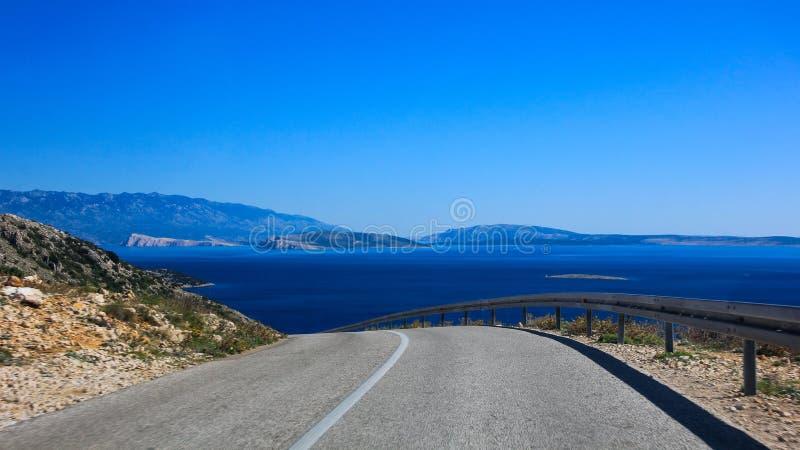 Bord de mer croatie de route image stock image 49207211 - Photo de bord de mer ...