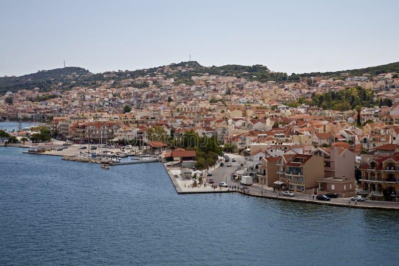 Bord de mer dans Argostoli image stock