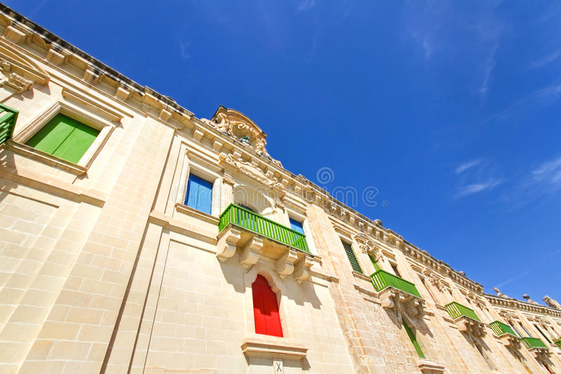 Bord de mer de La Valette, Malte photos stock