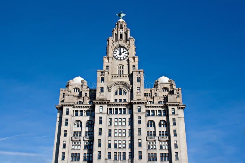Bord de mer de Liverpool de constructions de foie images stock