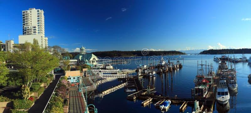 Bord de mer de Nanaimo et docks, île de Vancouver photo libre de droits
