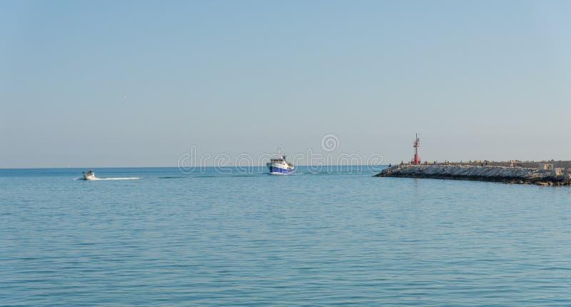 Bord de mer de San Benedetto del Tronto - Ascoli Piceno - l'Italie photographie stock libre de droits