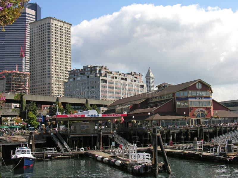 Bord de mer et du centre, Seattle, Wasington images stock