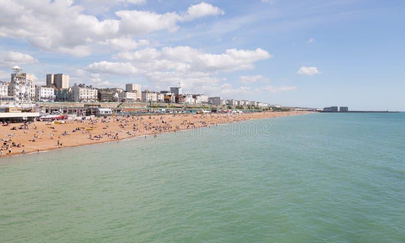 Bord de mer et ville de Brighton photo stock