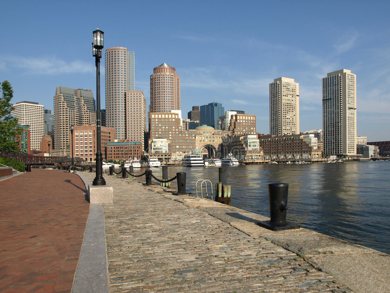 Bord de mer historique de port de Boston images stock
