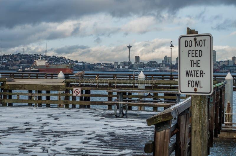 Bord de mer occidental de Seattle images libres de droits