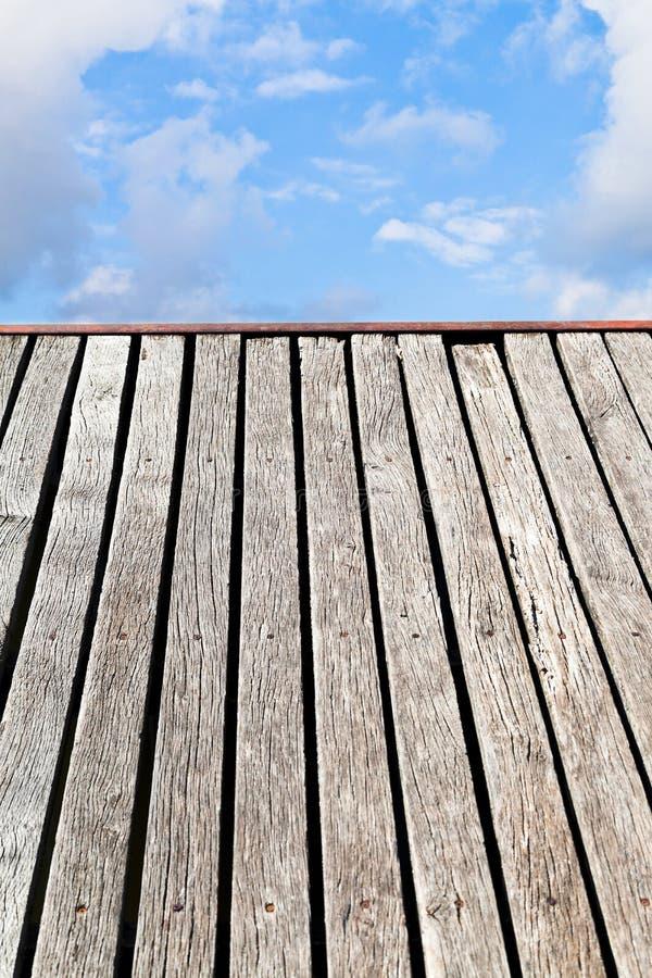 Bord de pont au ciel photographie stock libre de droits