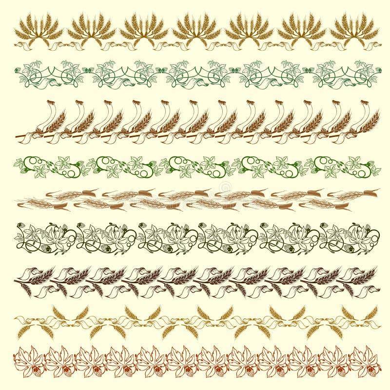 Bord de silhouette d'houblon de texture illustration libre de droits