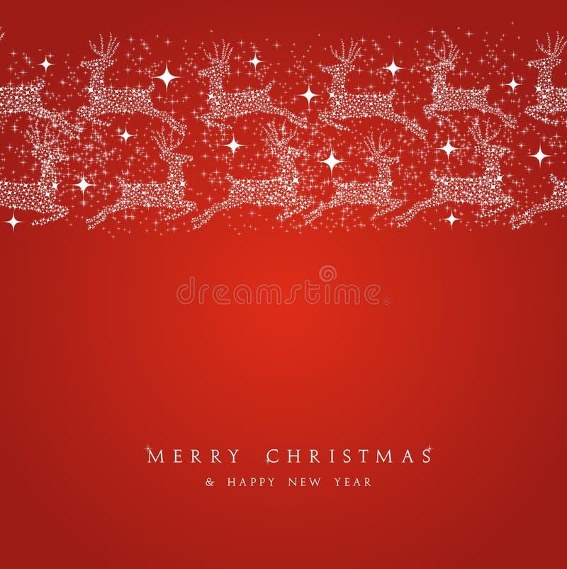 Bord degli elementi delle decorazioni della renna di Buon Natale royalty illustrazione gratis