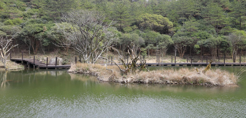 Bord du lac de montagne jiuxianshan, adobe RVB image libre de droits
