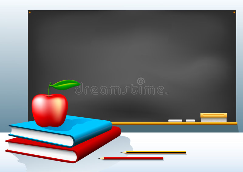 Bord en Boeken vector illustratie
