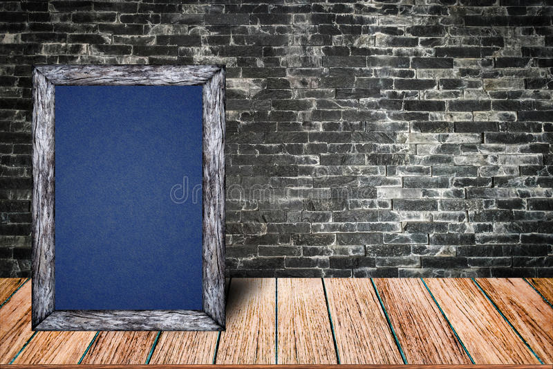 Bord houten kader, het menu van het bordteken voor decoratief de barhuis van het bureaurestaurant stock foto's