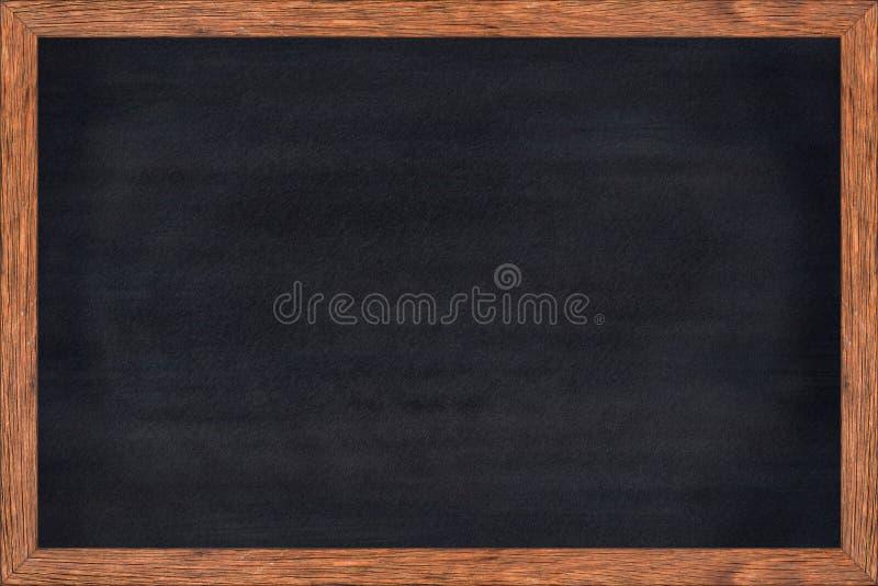 Bord houten kader met zwarte oppervlakte stock fotografie