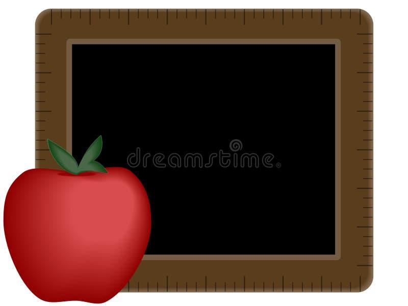 Bord met Appel stock illustratie