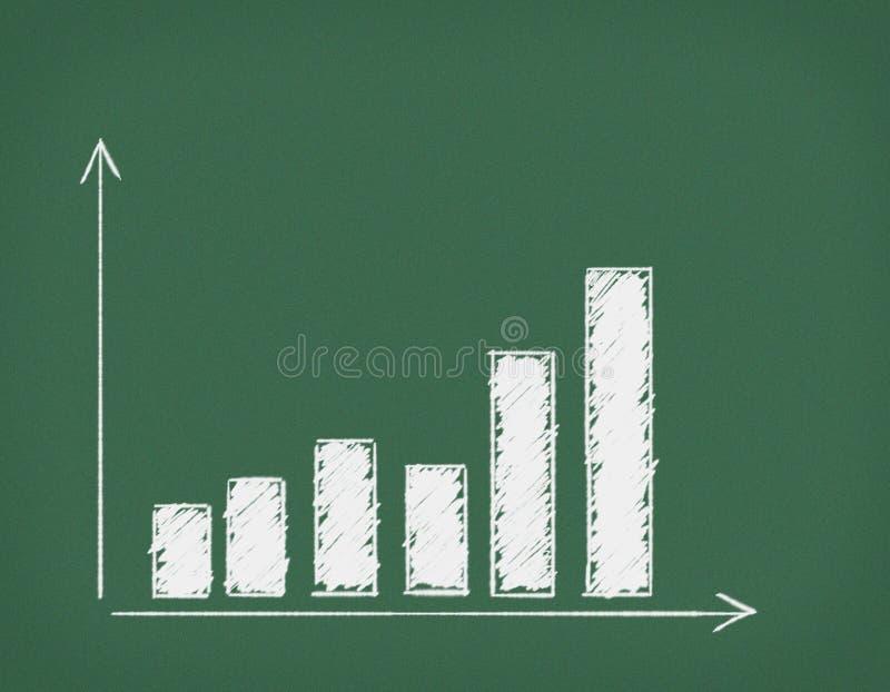 Bord met diagram. royalty-vrije illustratie