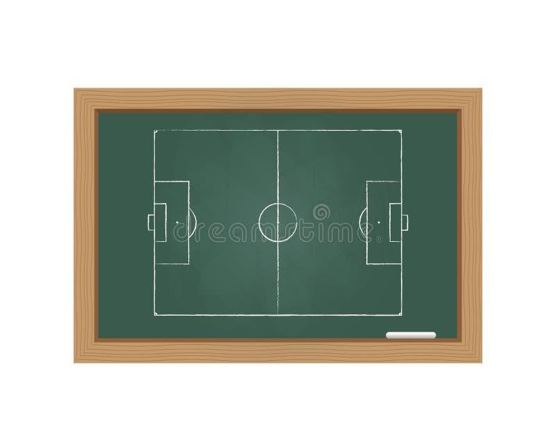 Bord met een voetbalgebied stock illustratie
