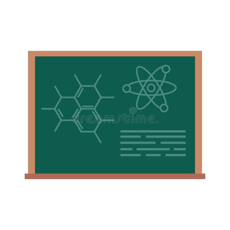 Bord met getrokken molecules stock illustratie
