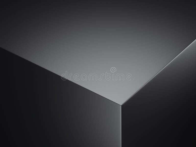 Bord réaliste de boîte noire, rendu 3d illustration libre de droits