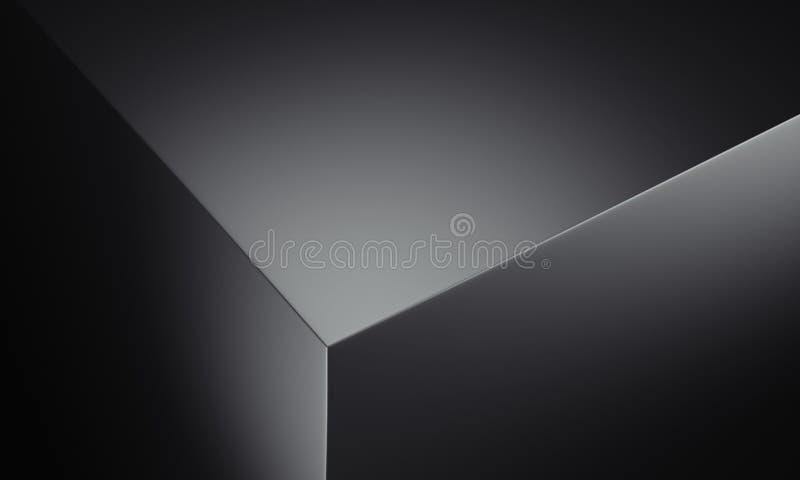 Bord réaliste de boîte noire, rendu 3d illustration de vecteur