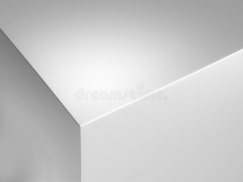 Bord réaliste de boîtier blanc, rendu 3d illustration libre de droits