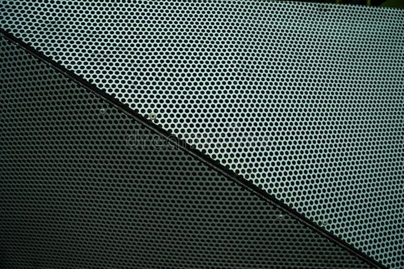 Borda abstrata do cubo do metal perfurado fotografia de stock