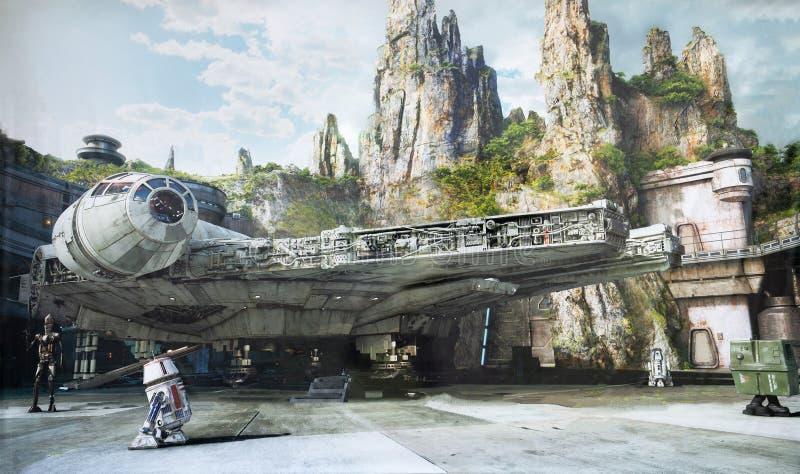 A borda da galáxia, Disney World, estúdios de Hollywood foto de stock