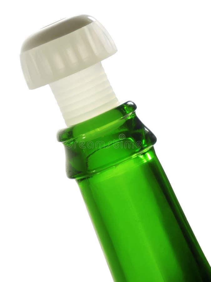 Borda da garrafa verde fotografia de stock