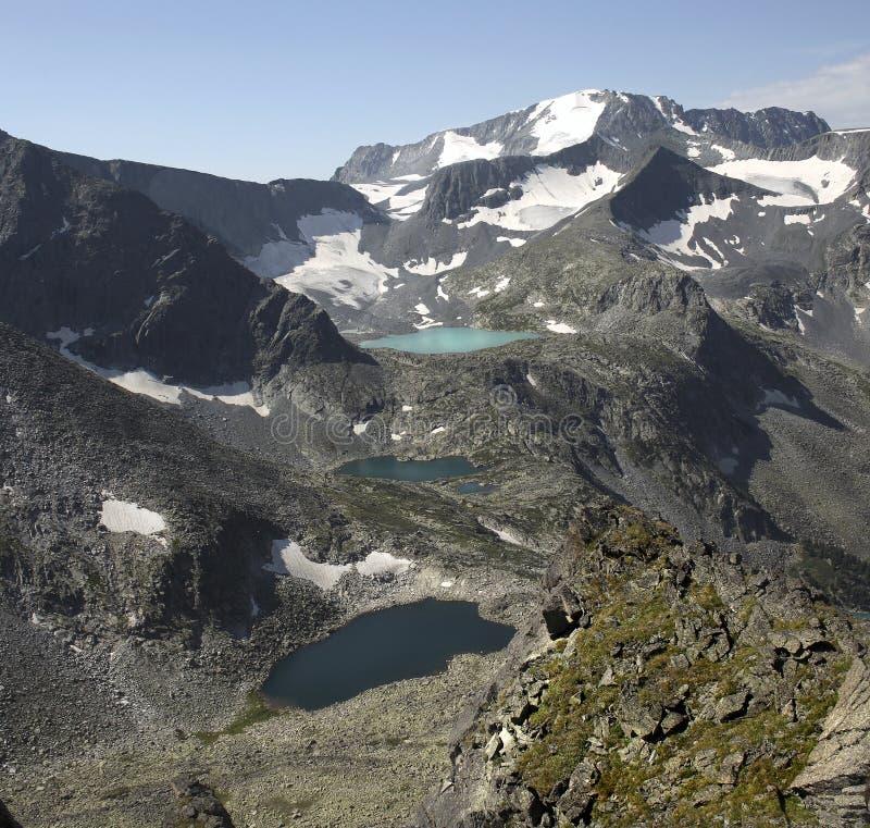 Borda de lagos glacial. fotos de stock royalty free
