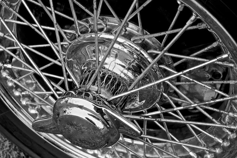 Borda de prata da roda de Crome fotos de stock