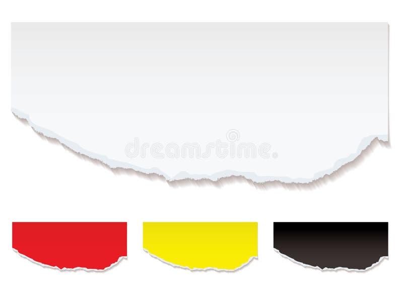 Borda rasgada do Livro Branco ilustração do vetor
