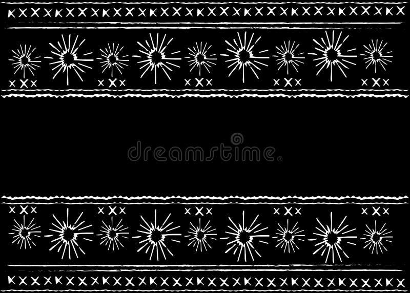Bordado étnico mexicano, teste padrão étnico da arte tribal Textura de repetição geométrica do fundo do sumário popular, projeto  ilustração stock